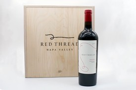 Red Thread 3 bottle wine box
