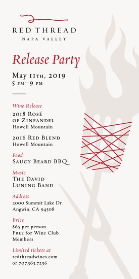 2019 Red Thread Wines Release party